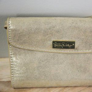Lilly Pulitzer Cross Bag- Gold Sparkle